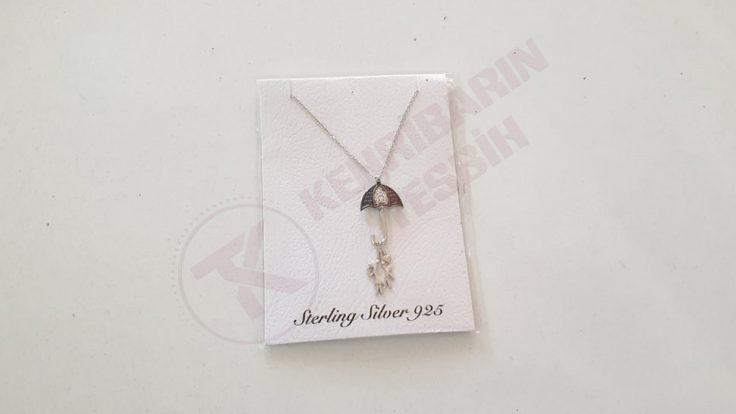 925 Ayar Şemsiyeli Gümüş Kolye